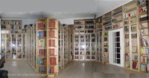 Unsere Bibliothek aus dem Jahre 2009 - längst sind die Lücken gefüllt und stehen Bücher an anderen Stellen.