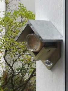 Das Vogelhaus im Einsatz.
