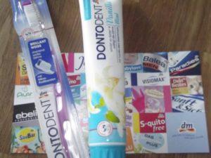 Kleines Testpaket für gute Zähne.