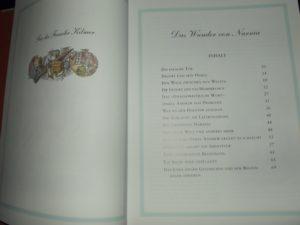 Die Wunder von Narnia - Inhaltsverzeichnis