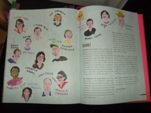 Hier bedankt sich Tim Mälzer bei allen, die irgendwie am Buch beteiligt waren. Das ist ein schöne Geste, zudem ist die Seite wirklich niedlich gemacht. Ob Tim Mälzer selbst gezeichnet hat?