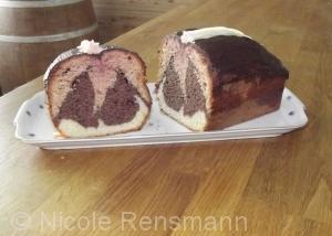 Marmorkuchen Dreierlei: Rote Bete, Schokolade, Vanille