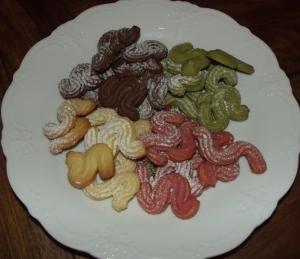 Rot, grün, braun und gelb sind alle meine Kekse ...